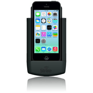 Apple iPhone 5 c with case Strike Alpha Car Cradle