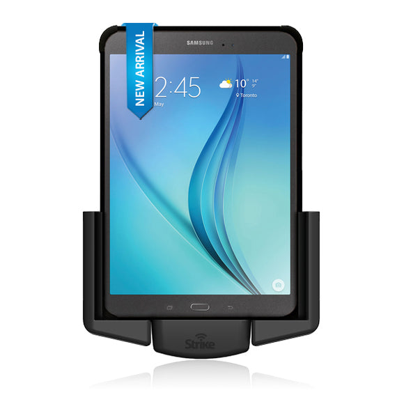 Strike Alpha Samsung Galaxy Tab A 8 Magnetic Charging Car Cradle with Strike Rugged Case Bundle