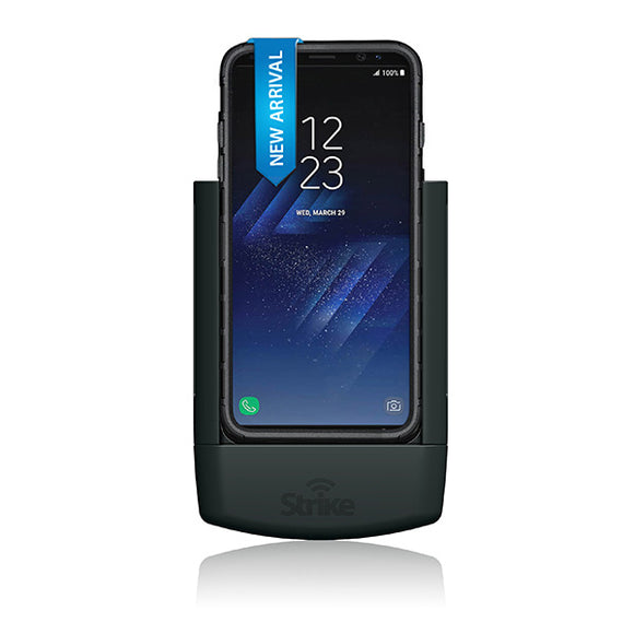 Strike Alpha Samsung Galaxy S8 Car Cradle Car Cradle with Strike Rugged Case Bundle