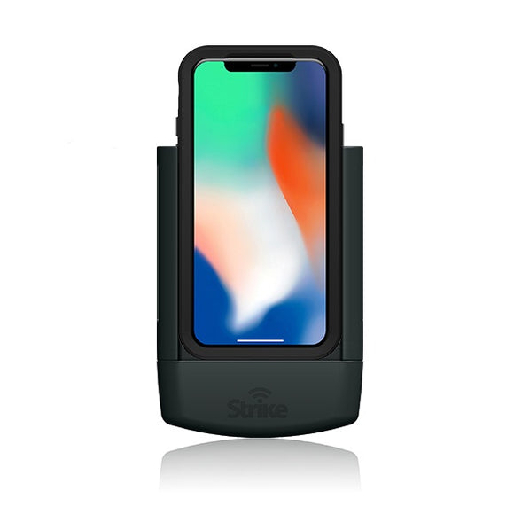 strike alpha apple iphone x car mount for lifeproof case