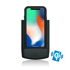 strike alpha apple iphone x wireless charging car dock for lifeproof case