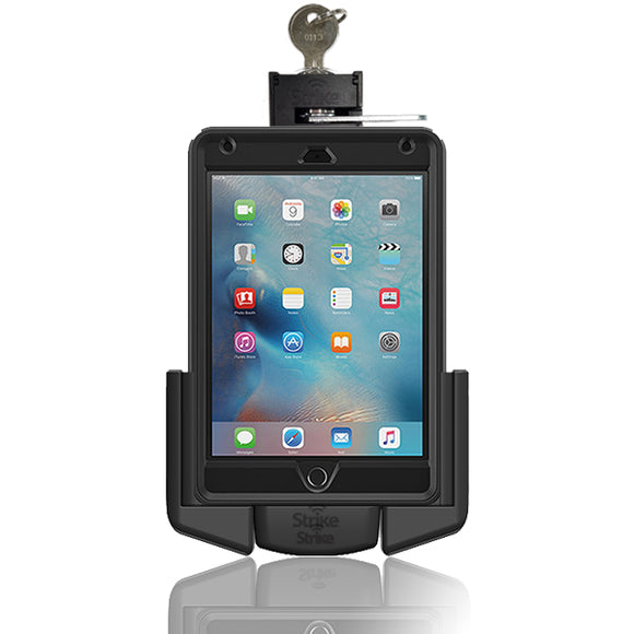 strike alpha ipad mini lockable car mount for otterbox defender case