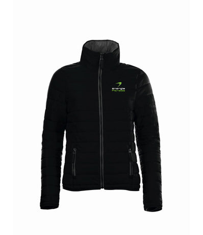 Ladies Outdoor Jacket énergie branded in Black