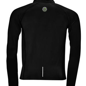 Unisex Indoor 1/4 Zip Sweat Top énergie branded in Black