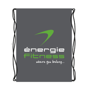 Drawstring Nylon Bag - 2 col spot énergie Branded