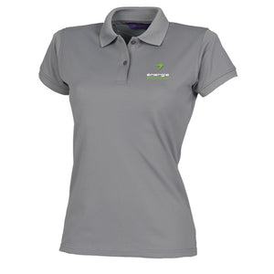 HEAD OFFICE ONLY Ladies Polo Shirt énergie branded in Grey