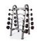 Barbell Rack (Oval Frame) - Holds 10 - Grey