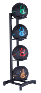 Oversized medicine ball rack, holds 4 oversized med balls