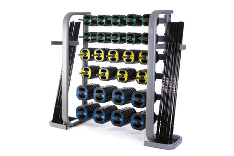 30 x Ignite V2 Urethane Studio Barbell Sets and Rack - Colour Coded