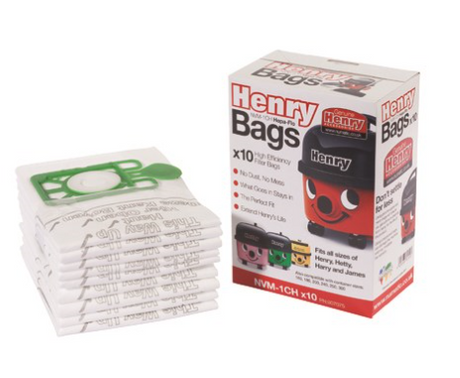 Henry Vacuum Cleaner Bags - Pack of 10