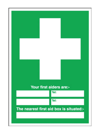 First Aid 60 x 45 mm PVC Sign