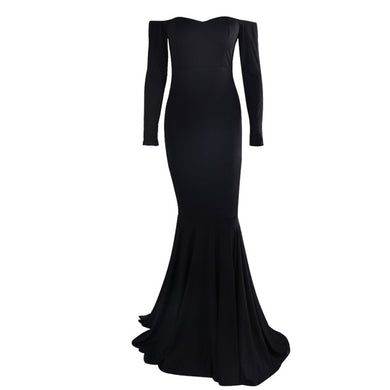 Elegant Evening Black Prom Dress