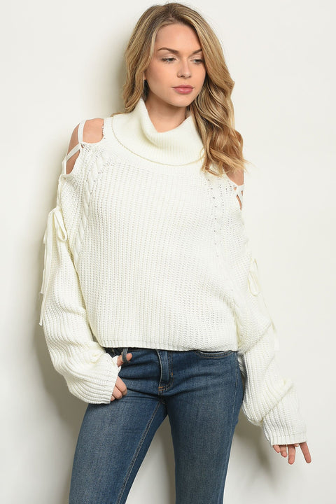 The Trends Turtleneck Ivory Sweater