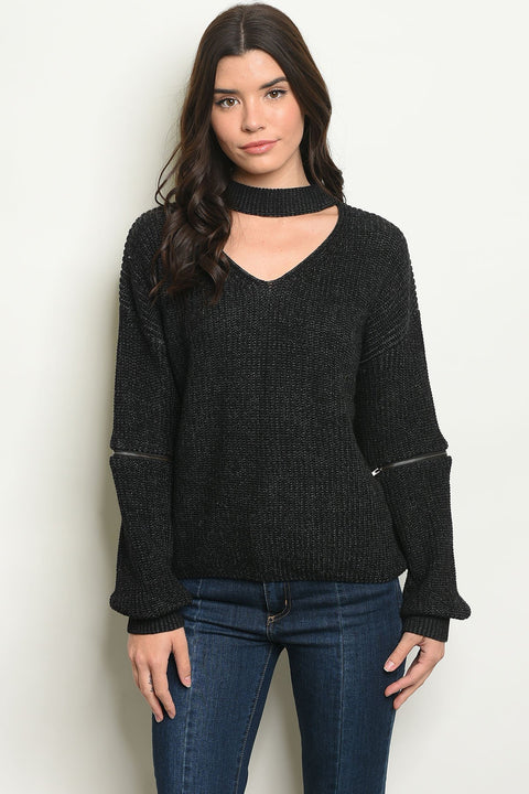 The Trends Choker Sweater