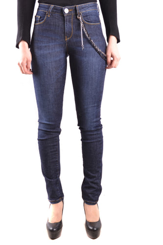Bustier Dark Denim Jeans, Pinko
