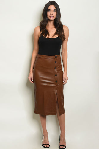 Maxi Leather Pencil Skirt