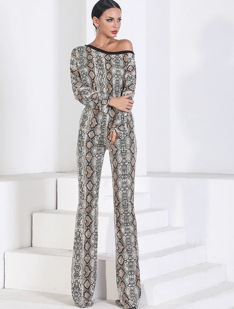 Evelyn Belluci Snakeskin Jumpsuit