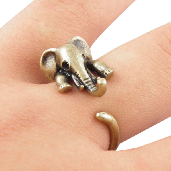 Cute Elephant Wrap Ring - In Gold and Silver Color - Free Shipping Available
