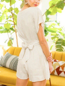 Alee Pleated Romper