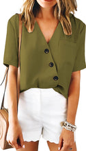 Load image into Gallery viewer, Brittany Button Front Blouse