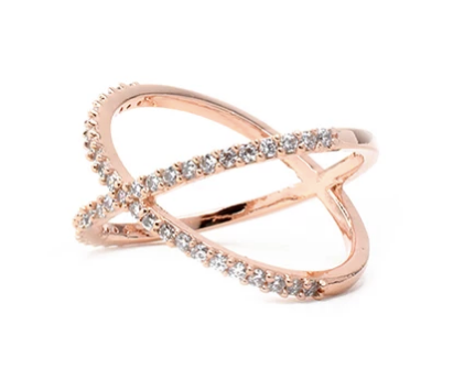 Cross Me Statement Ring