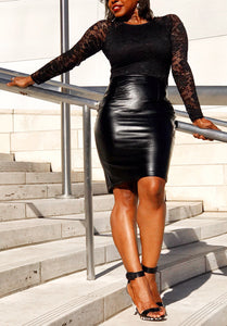 Dolce Vita Faux Leather Skirt