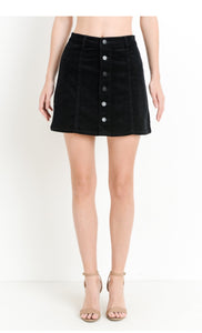 Jane B Corduroy Mini Skirt