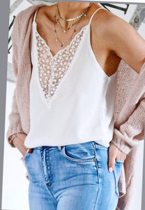 Kristin Lace Front Cami Top
