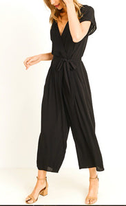 Lauren V-Neck Surplice Jumpsuit