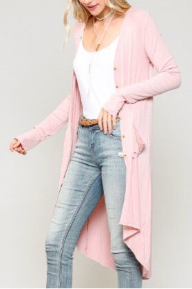 Layla Ribbed Duster Cardigan