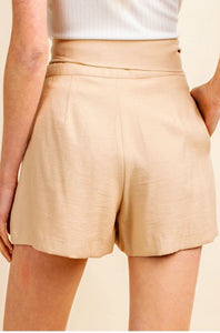 Marbella Pleated Tie Front Shorts