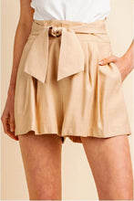 Load image into Gallery viewer, Marbella Pleated Tie Front Shorts