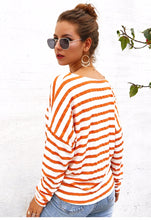 Load image into Gallery viewer, Monterey Bay Striped Front Knot Sweater