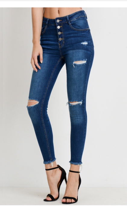 Olivia High Waisted Skinny Ankle Jeans
