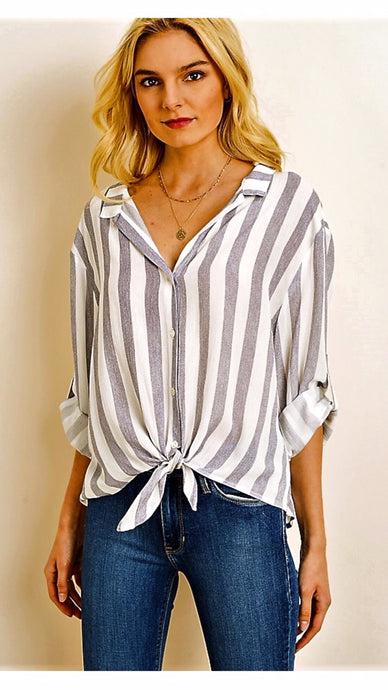 Pacific Heights Striped Blouse