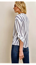 Load image into Gallery viewer, Pacific Heights Striped Blouse