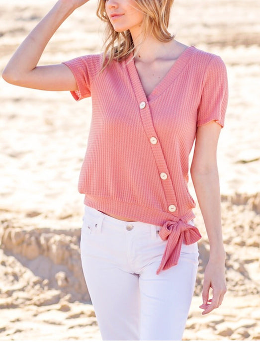 Paradise Cove Faux Wrap Top