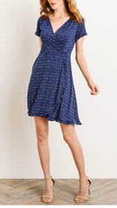 Picnic in Provence Faux Wrap Dress
