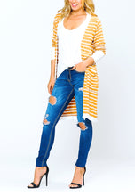 Load image into Gallery viewer, Rhylee Striped Duster Cardigan
