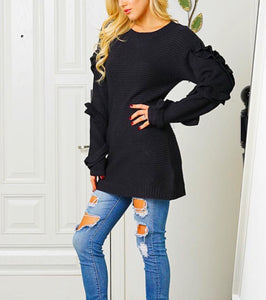 Sasha Ruffle Sleeve Sweater