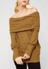 Load image into Gallery viewer, Sherbrooke Off the Shoulder Sweater