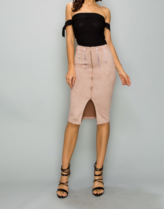 Valentina Faux Suede Skirt