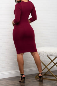 Jayne M. Fitted Dress