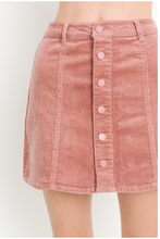 Load image into Gallery viewer, Jane B Corduroy Mini Skirt