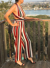 Load image into Gallery viewer, Evelyn Multi Stripe Jumpsuit