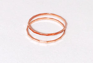 Kelly Stackable Hammered Rings