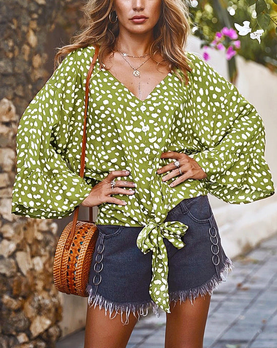 Palm Desert Ruffle Sleeve Top
