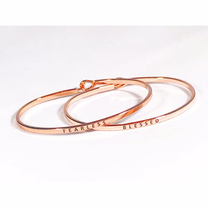 Rose Gold Tone Inspiration Bracelet