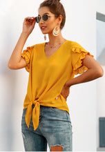 Load image into Gallery viewer, Sunburst Tie Front Blouse