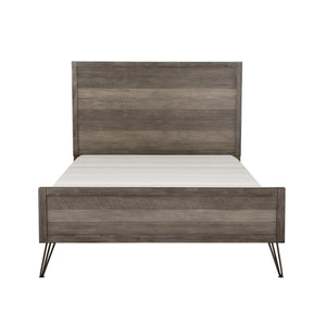 Raku King Bed, 3-tone Gray Finish